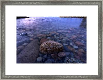 Stones And Water In Acadia National Park Framed Print by Rick Berk
