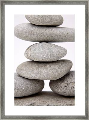 Stones Framed Print by Les Cunliffe