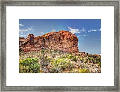 Stones Of The West Framed Print by Wanda Krack