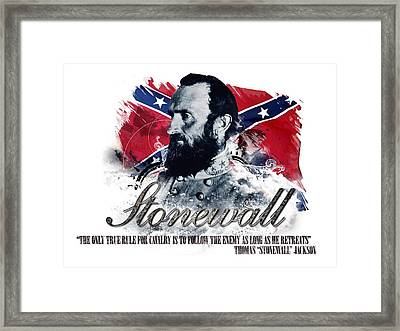 Stonewall Jackson The Only True Rule For Cavalry Framed Print by Charles River Editors