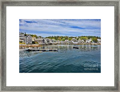 Stonington In Maine Framed Print by Olivier Le Queinec