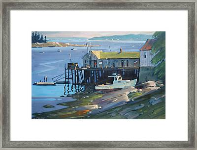 Stonington Maine Framed Print by Len Stomski