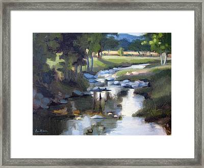 Stony Creek Framed Print by Erin Rickelton