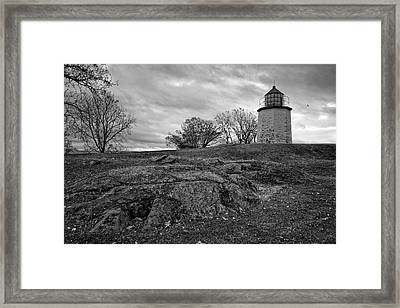 Stony Point Lighthouse Framed Print by Joan Carroll