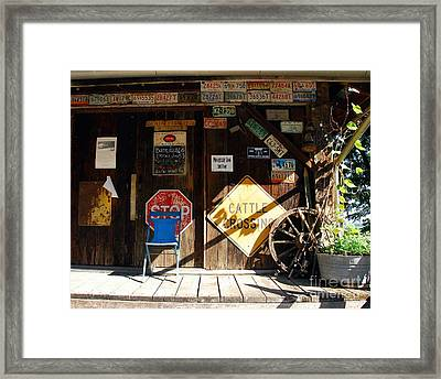Stop And Have A Seat Framed Print by Mel Steinhauer