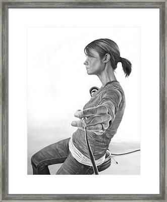 Stop Framed Print by Brent Schreiber