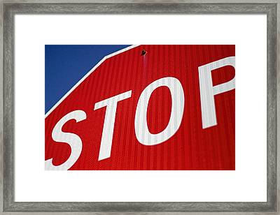 Stop Framed Print by Carol Leigh