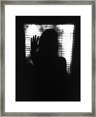 Stop Negativity Framed Print by Lucy D