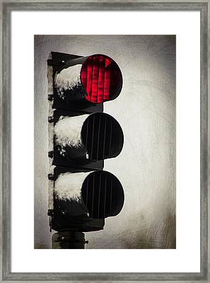 Stop On The Red Framed Print by Karol Livote