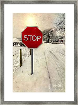 Stop Sign Framed Print by Adrian Evans
