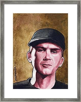 Stopper Portrait Series Ian Framed Print by David Shumate
