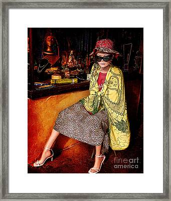 Store Front Mannequin  Framed Print by Janice Rae Pariza
