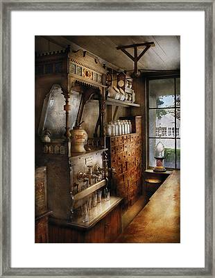 Store - Turn Of The Century Soda Fountain Framed Print by Mike Savad