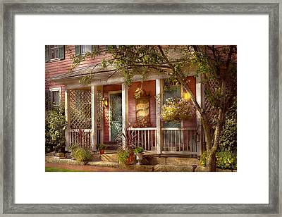 Store - Zoar Oh - The Cobbler Shop Framed Print by Mike Savad