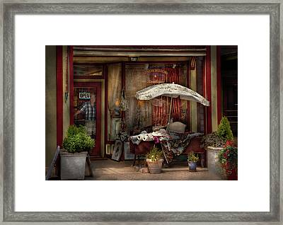 Storefront - Frenchtown Nj - The Boutique Framed Print by Mike Savad