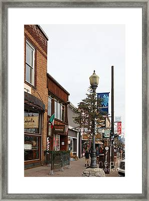 Storefront Shops In Truckee California 5d27490 Framed Print by Wingsdomain Art and Photography