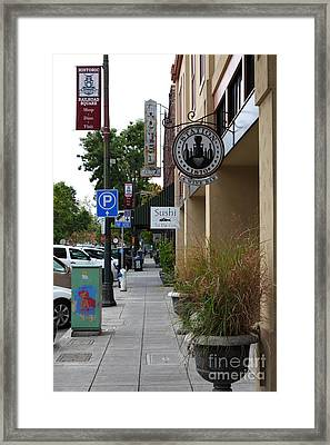 Storefronts In Historic Railroad Square Area Santa Rosa California 5d25806 Framed Print by Wingsdomain Art and Photography