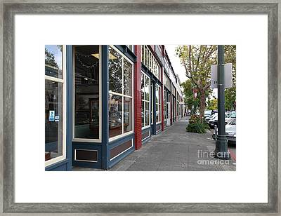 Storefronts In Historic Railroad Square Area Santa Rosa California 5d25856 Framed Print by Wingsdomain Art and Photography