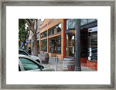 Storefronts In Historic Railroad Square Santa Rosa California 5d25804 Framed Print by Wingsdomain Art and Photography