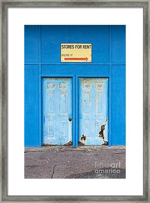 Stores For Rent Salsibury Beach Ma Framed Print by Edward Fielding