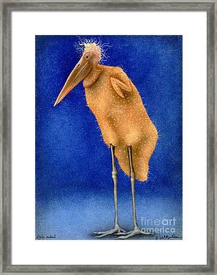 Stork Naked... Framed Print by Will Bullas