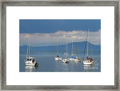 Storm A Brewing Framed Print by Deborah Benoit
