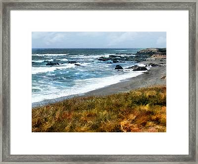 Storm Approaching Along The Central California Coast Framed Print by Elaine Plesser