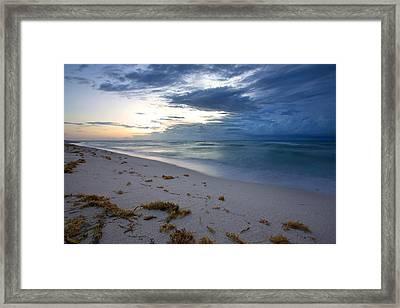 Storm Approaching Miami Framed Print by Matt Tilghman