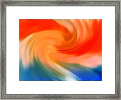 Storm At Sea 1 Framed Print by Amy Vangsgard