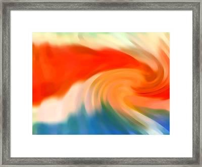 Storm At Sea 3 Framed Print by Amy Vangsgard