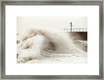 Storm At Workington Framed Print by Ashley Cooper