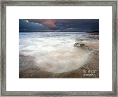Storm Bowl Framed Print by Mike  Dawson
