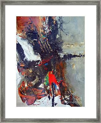 Storm Brewing Framed Print by Ron Stephens