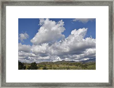 Storm Clouds From Santiago Canyon Road I Framed Print by Linda Brody