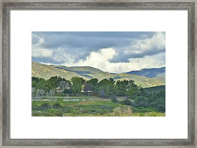 Storm Clouds From Santiago Canyon Road Iv Framed Print by Linda Brody