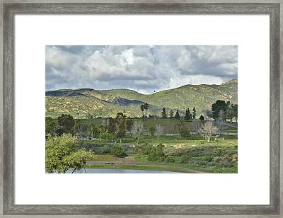 Storm Clouds From Santiago Canyon Road V Framed Print by Linda Brody