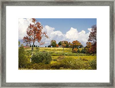 Storm Clouds Over Country Landscape Framed Print by Christina Rollo