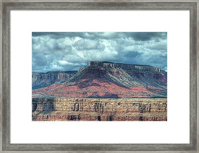 Storm Clouds Over Grand Canyon Framed Print by Donna Doherty