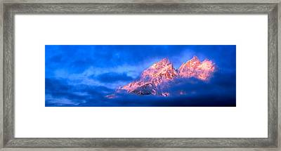 Storm Clouds Over Mountains, Cathedral Framed Print by Panoramic Images