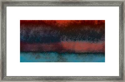 Storm Coming Framed Print by Bonnie Bruno
