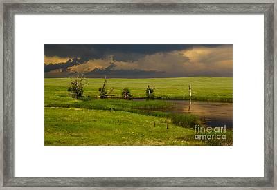 Storm Crossing Prairie 1 Framed Print by Robert Frederick