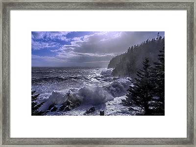 Storm Lifting At Gulliver's Hole Framed Print by Marty Saccone