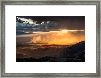 Storm Light Framed Print by Leland D Howard