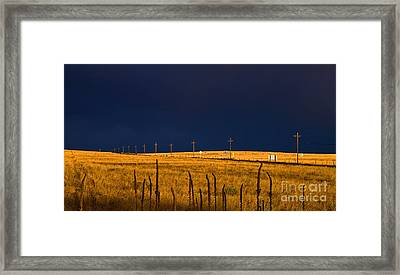 Storm Of Redemption Framed Print by Barbara Schultheis