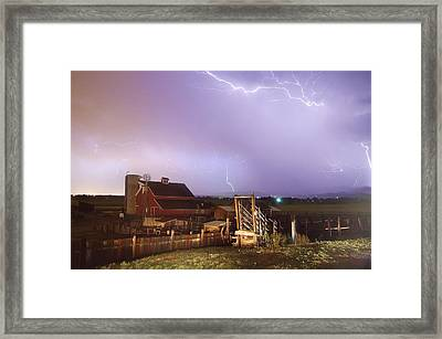 Storm On The Farm Framed Print by James BO  Insogna