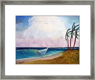 Storm On The Horizon Framed Print by Joyce Krenson