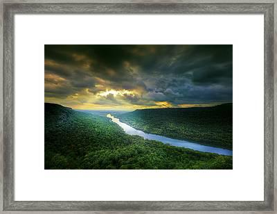 Storm Over Edwards Point Framed Print by Steven Llorca