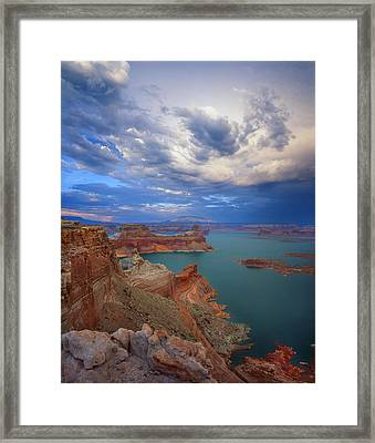 Storm Over Lake Powell Framed Print by Ray Mathis