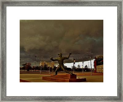 Storm Over Lefty Framed Print by Ed Sweeney
