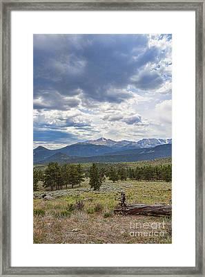 Storm Over Longs Peak Framed Print by Kay Pickens